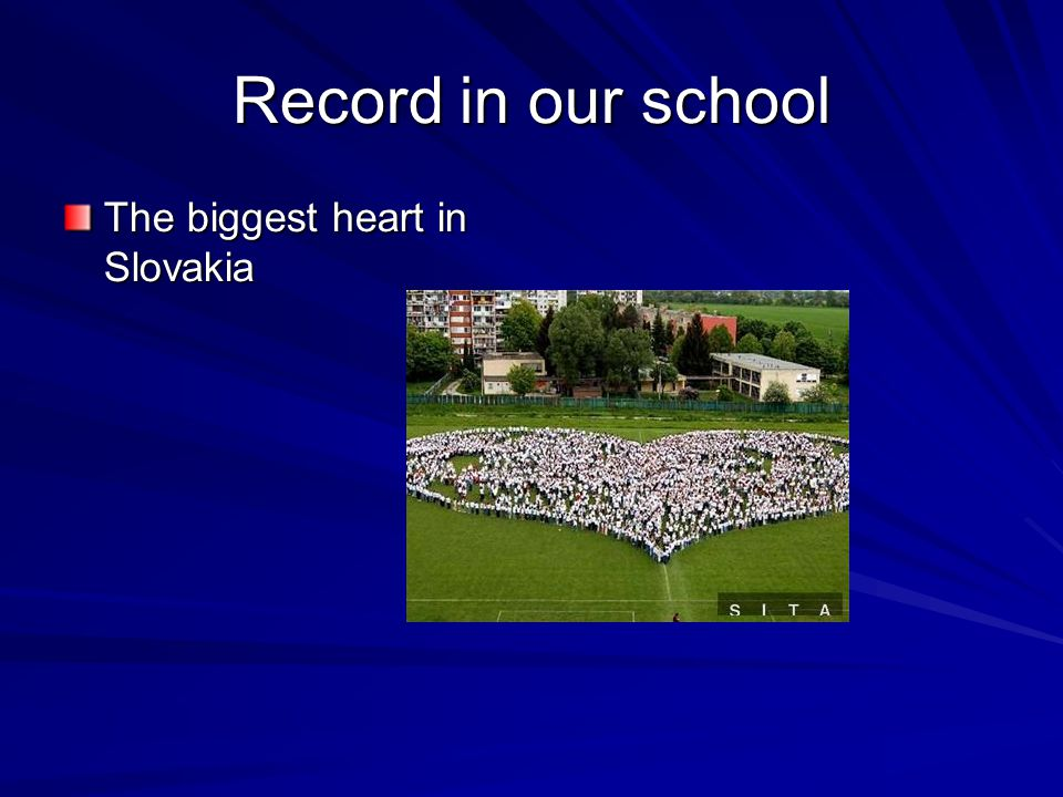 Record in our school The biggest heart in Slovakia