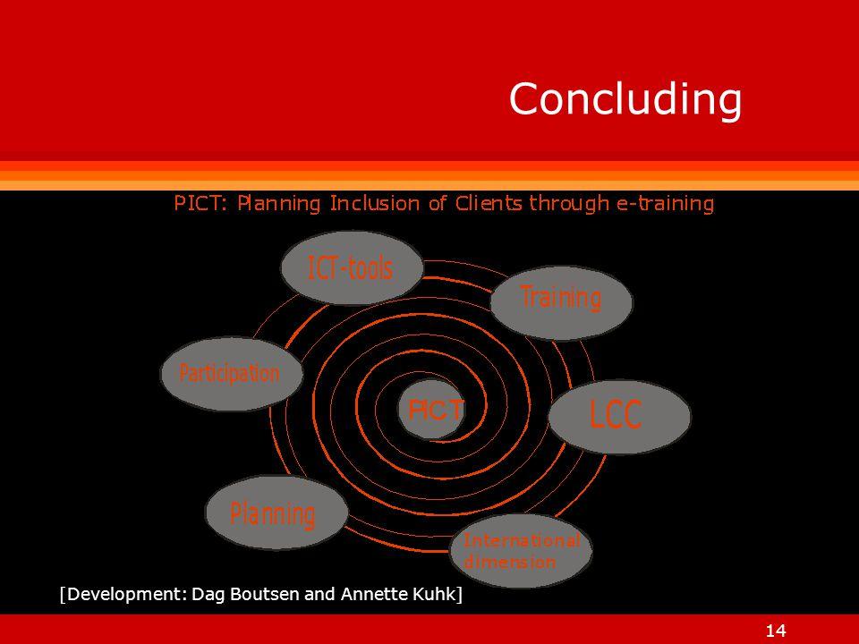 14 Concluding [Development: Dag Boutsen and Annette Kuhk]