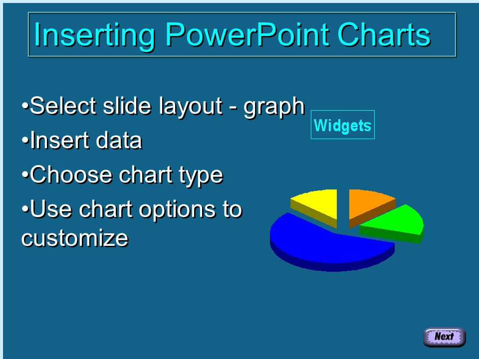 Practice Slide If you would like hands-on practice, use the PowerPoint File practice.ppt This file and all necessary material is also available in zipped format in handout.zip Create a Table Double Click to Create Table