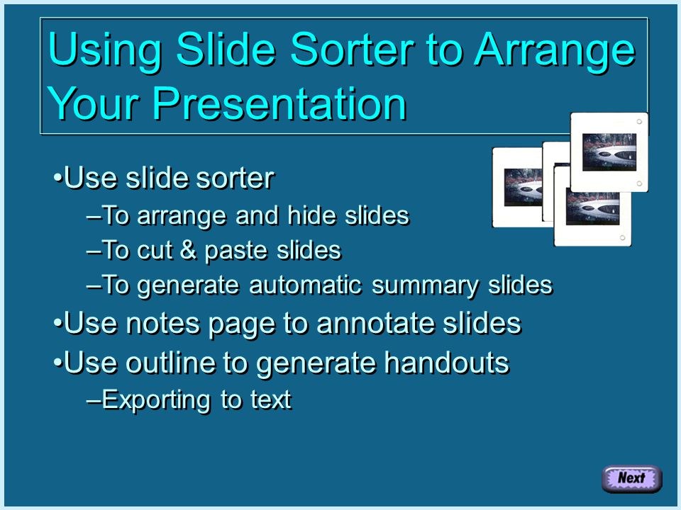 Practice Slide If you would like hands-on practice, use the PowerPoint File practice.ppt This file and all necessary material is also available in zipped format in handout.zip Excel Worksheet