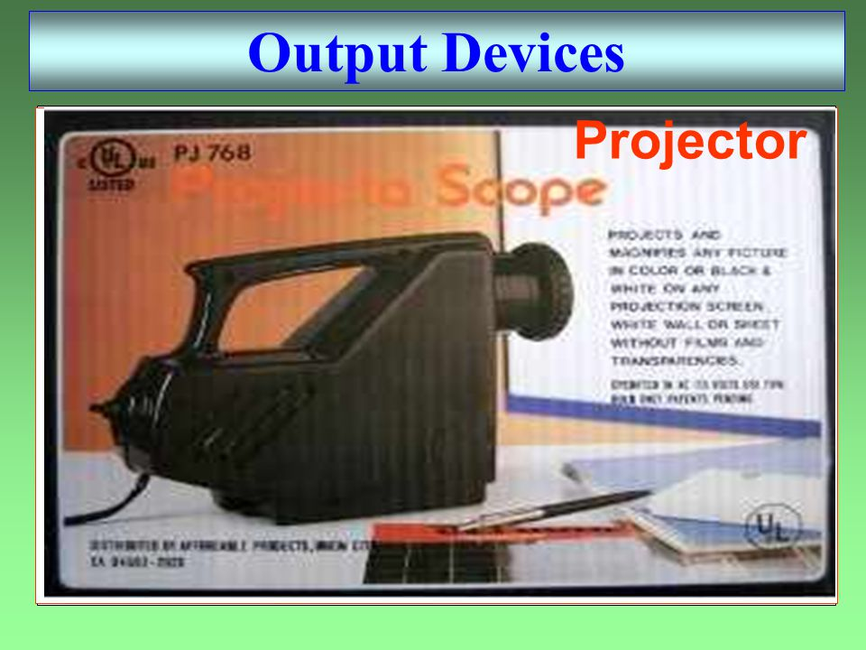 Plotter Speaker Printer Monitor Output Devices Projector