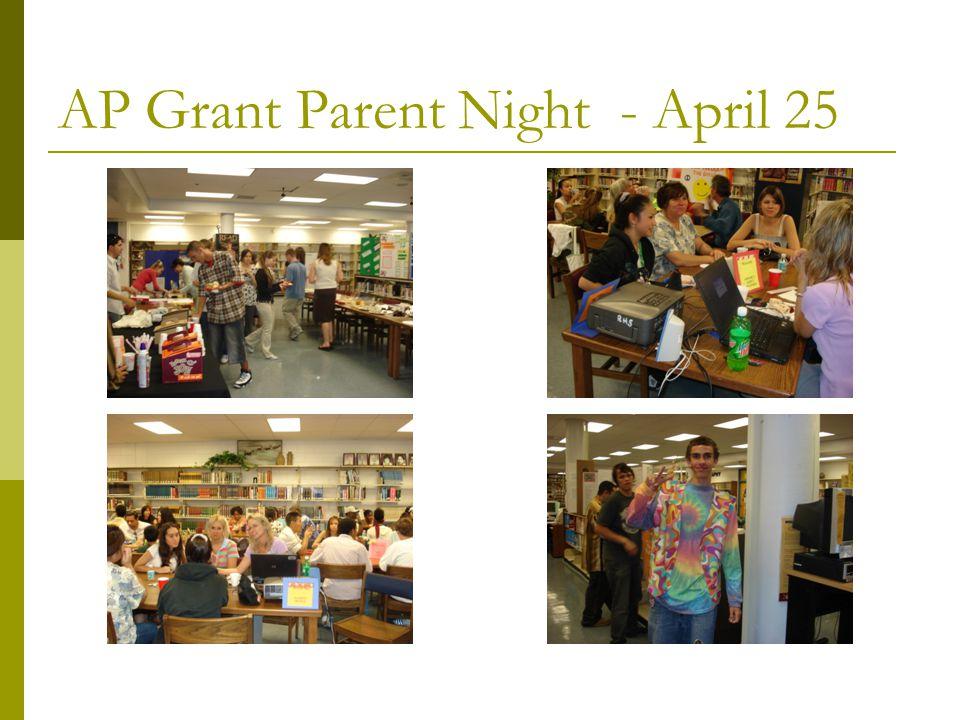 AP Grant Parent Night - April 25