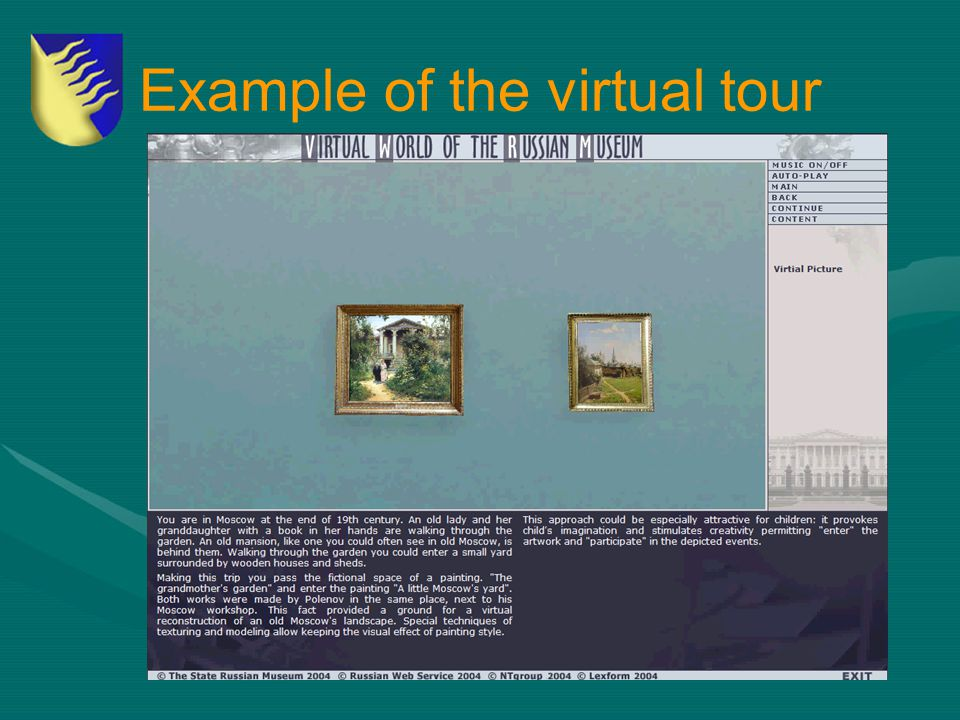 Example of the virtual tour