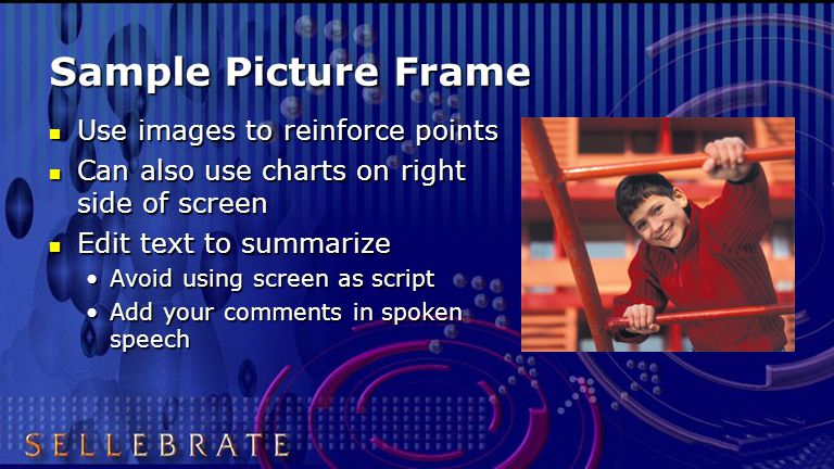 Video Options Screen looks are flexible Screen looks are flexible Digitized video inserts OR Digitized video inserts OR Separate video projector with area mask on PowerPoint frame.