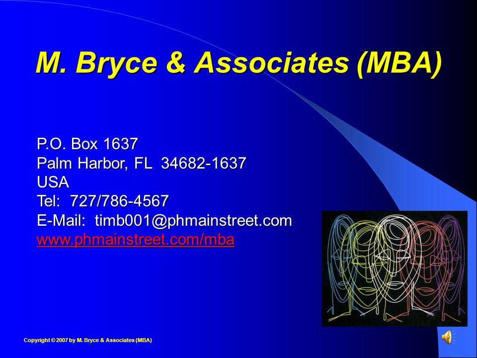 M. Bryce & Associates (MBA) P.O.