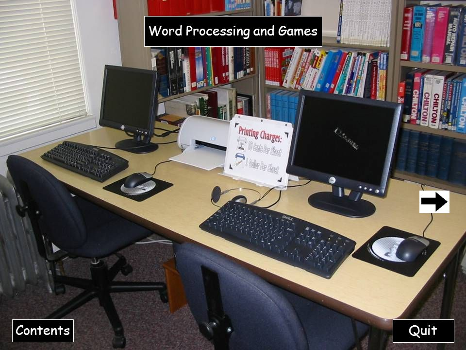 Quit Word Processing and Games