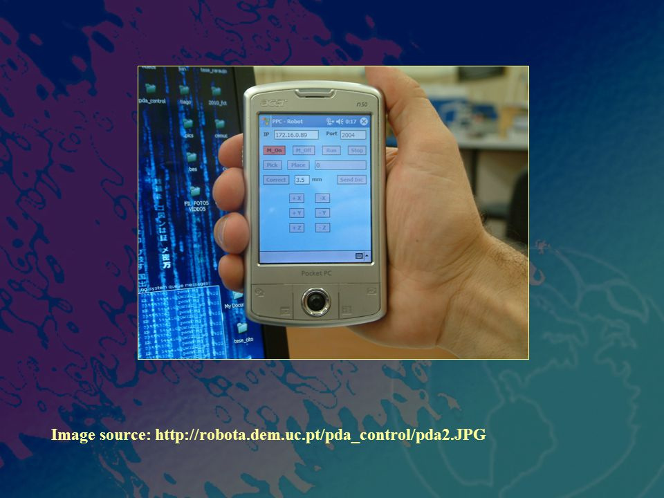 Image source: http://robota.dem.uc.pt/pda_control/pda2.JPG