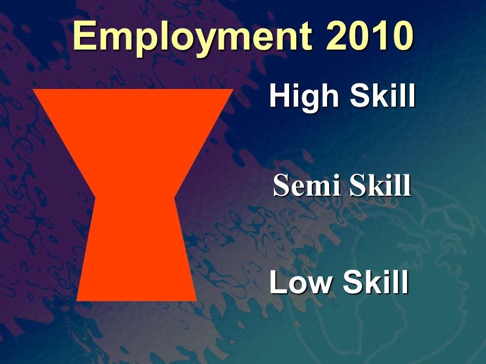 Employment 2010 High Skill Low Skill Semi Skill