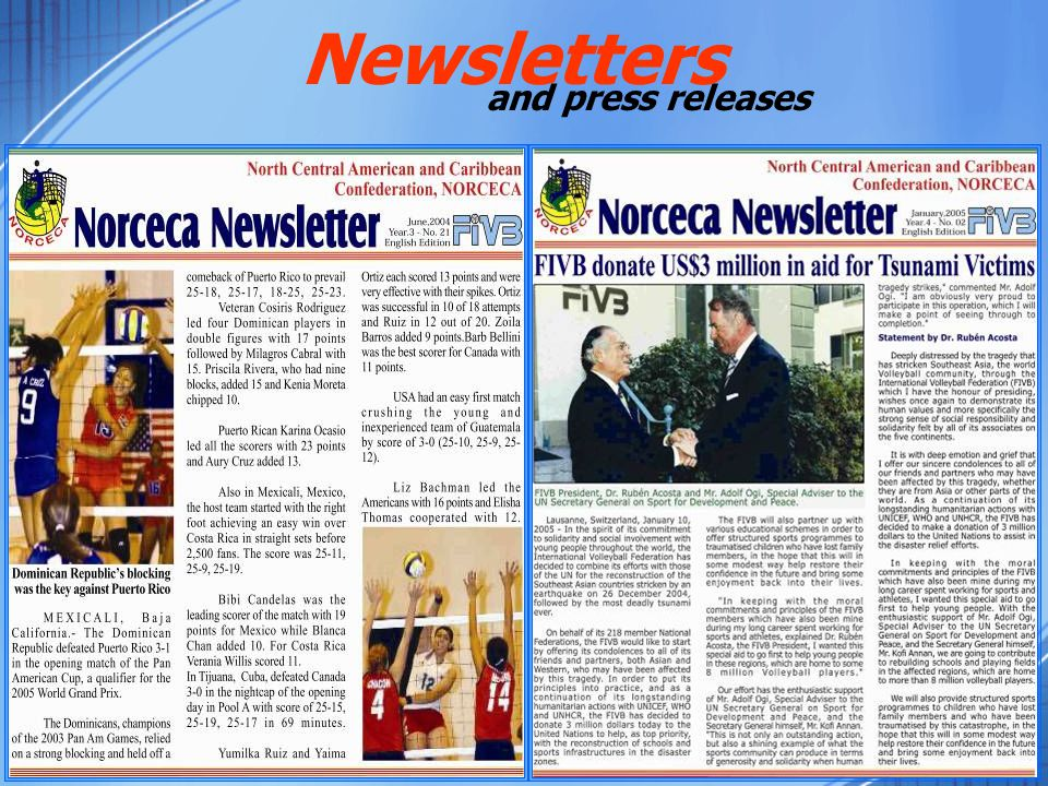 and press releases Newsletters