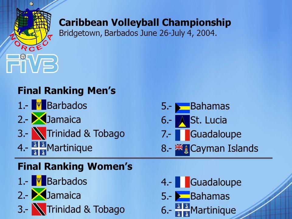 5.- Bahamas 6.-St.