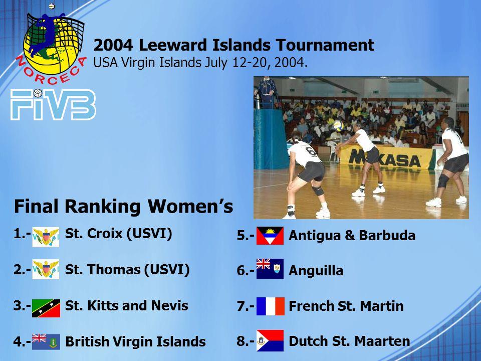 1.- St. Croix (USVI) 2.- St. Thomas (USVI) 3.- St.
