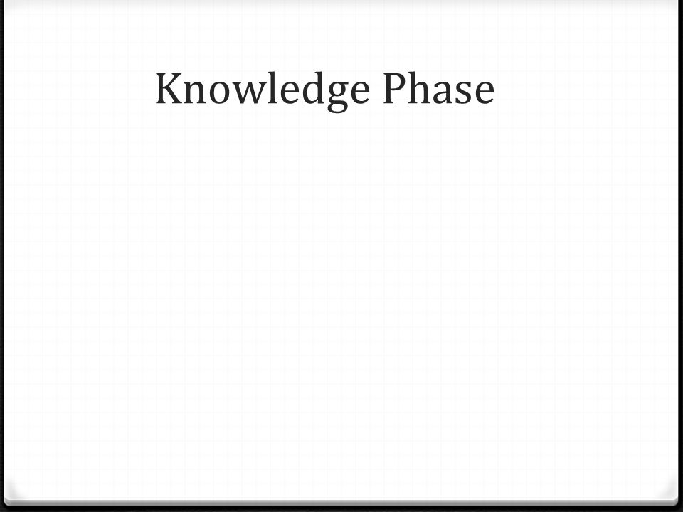 Knowledge Phase