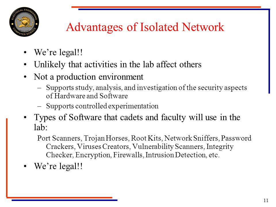 10 Legal Constraints Privacy Act of 1974 Computer Fraud Waste and Abuse Act of 1987 US Code Title 18 Sections 10301030 Fraud and related activity in connection with computers US Code Title 18 Sections 27012701 Unlawful access to stored communications US Code Title 18 Sections 25112511 Interception and disclosure of wire, oral, or electronic communications prohibited DoD Directive 5200.27 Acquisition of Information Concerning Persons and Organizations not Affiliated with the Department of Defense Numerous Department of the Army Regulations