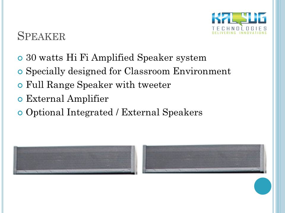 S PEAKER 30 watts Hi Fi Amplified Speaker system Specially designed for Classroom Environment Full Range Speaker with tweeter External Amplifier Optio