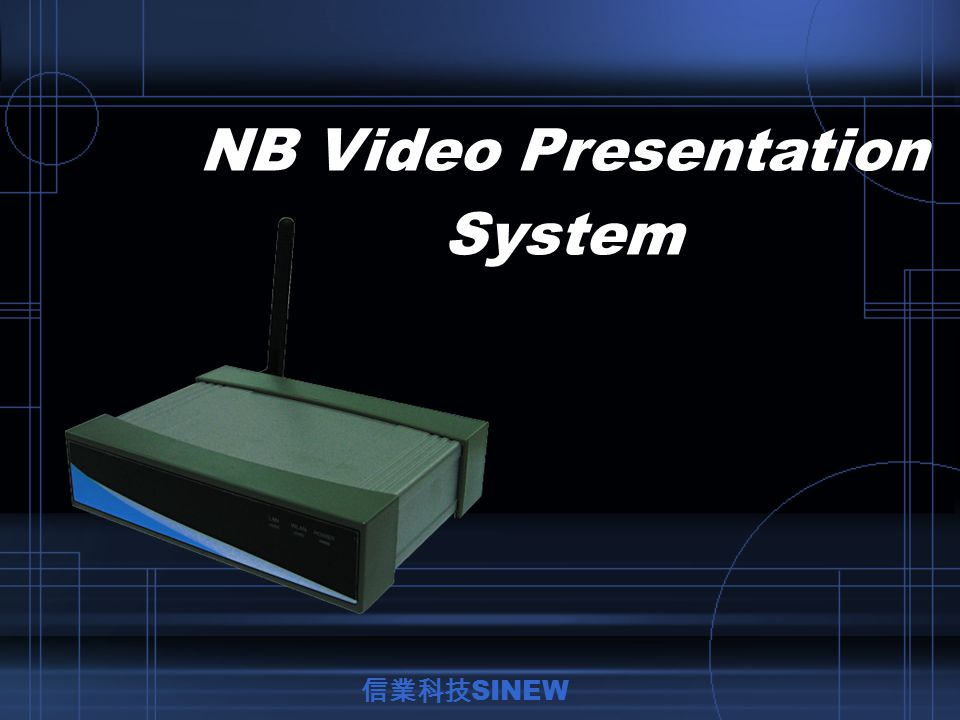 Plug & Play With Plug & Play function, NB Video Presentation System can easily connect your PC/NB and project immediately.