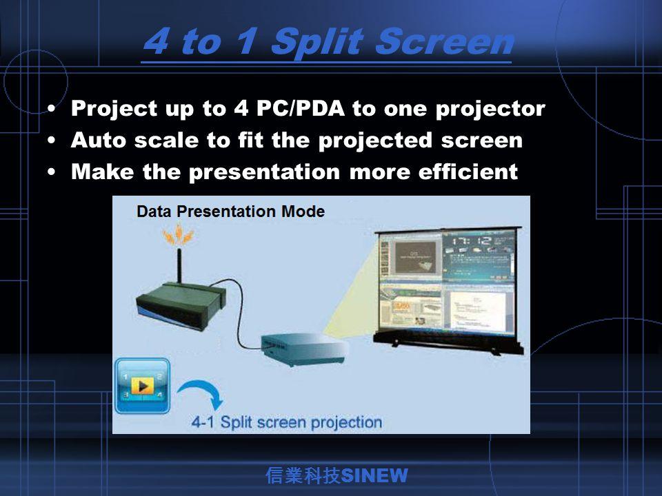 信業科技 SINEW With audio output to transmit video/audio.