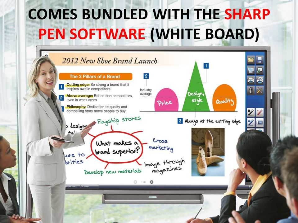 COMES BUNDLED WITH THE SHARP PEN SOFTWARE (WHITE BOARD)