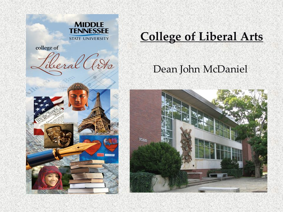 College of Liberal Arts Dean John McDaniel