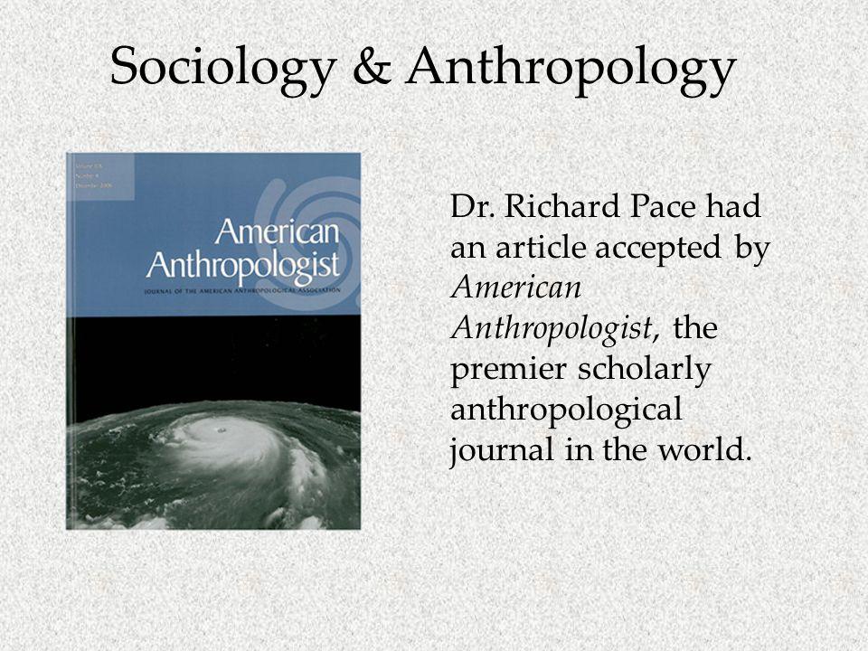 Sociology & Anthropology Dr.