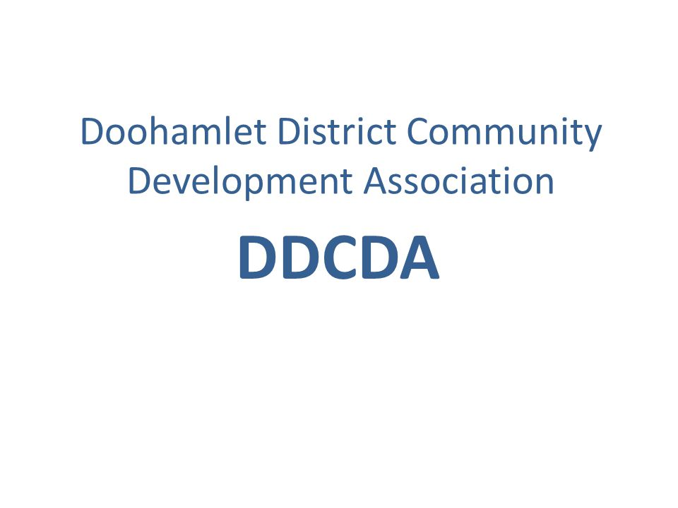 Doohamlet District Community Development Association DDCDA