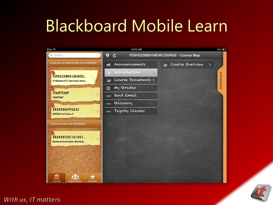 Blackboard Mobile Learn