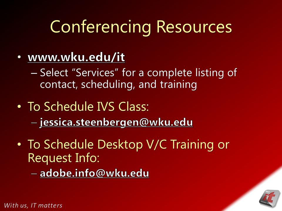 Conferencing Resources