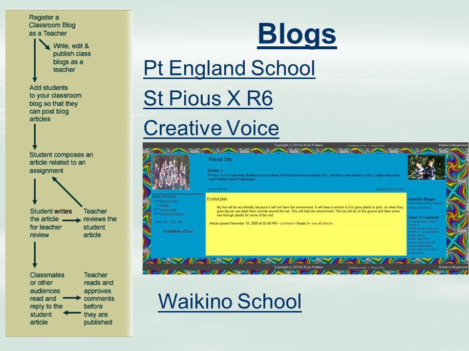 Blogs Pt England School St Pious X R6 Creative Voice Waikino School