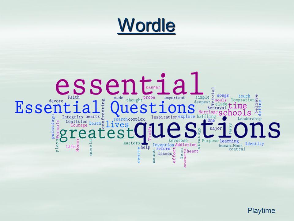 Wordle Playtime