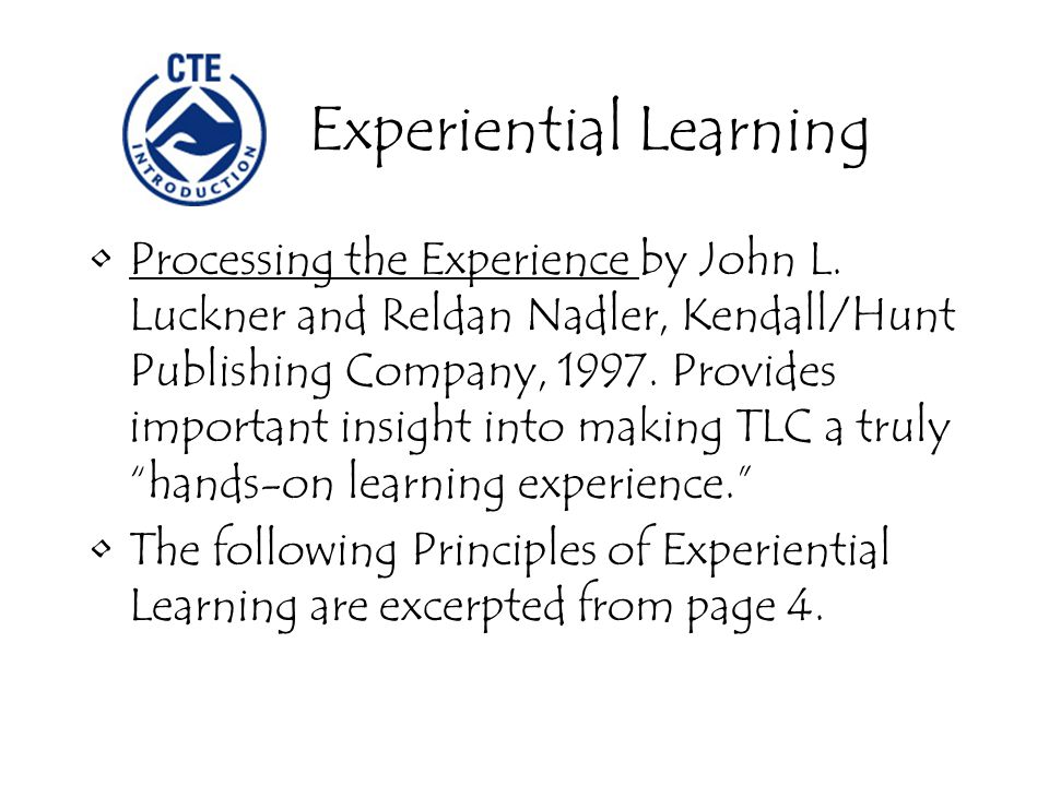 Processing the Experience by John L.
