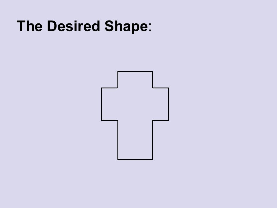 The Desired Shape: