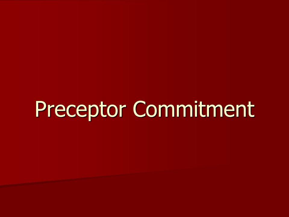 Preceptor Commitment