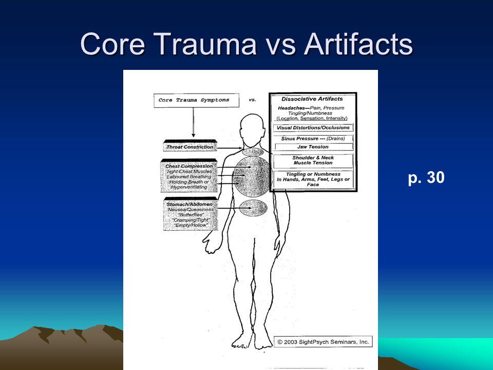 Core Trauma vs Artifacts p. 30