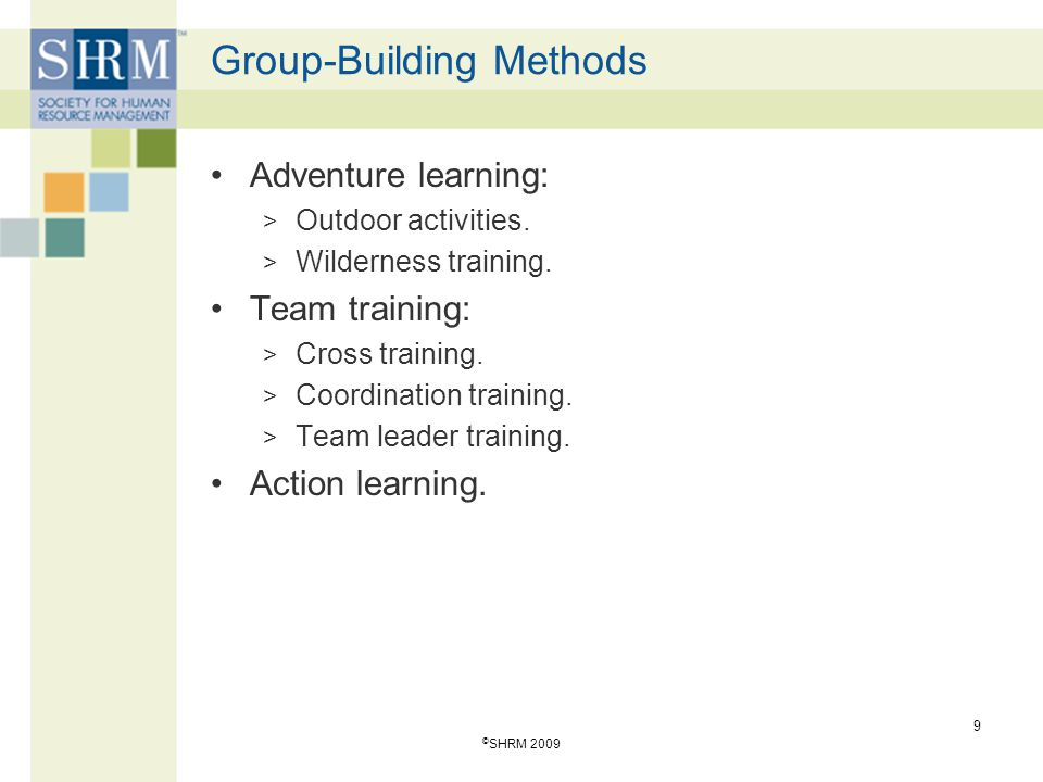 Learner-centered training that uses active participatory methods.