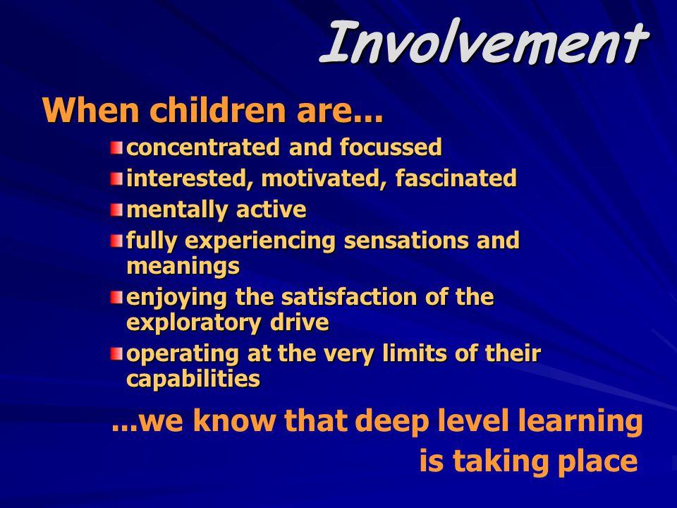 Involvement When children are...