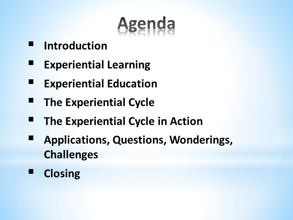 Experiential learning and experiential education are buzzwords within many educational circles.