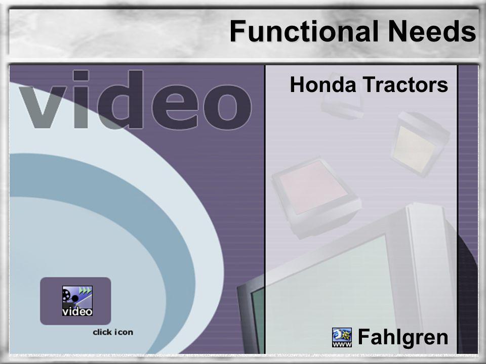 Functional Needs Honda Tractors Fahlgren