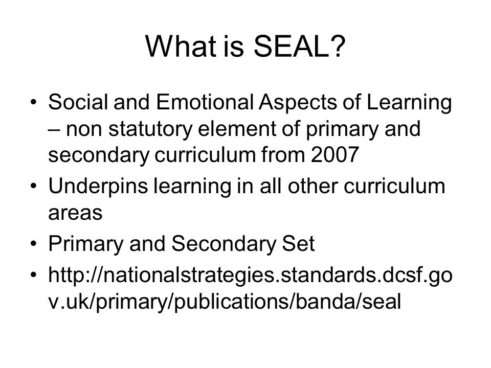 What is SEAL.