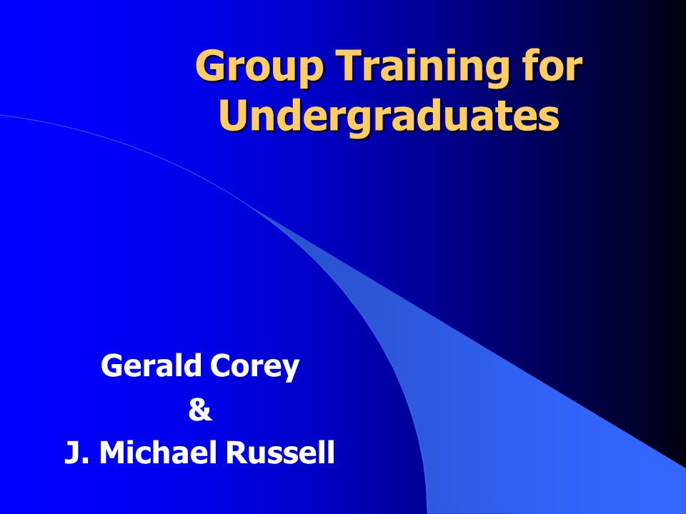 Combining Experiential and Didactic Methods of Teaching Group Counseling J.