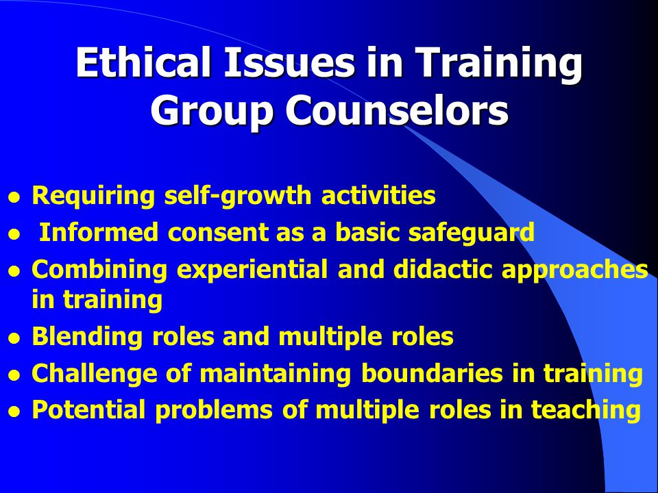 Santa Clara University Group Therapy Training - 2 l Term 3 l Co-lead Lab group with professional leader l group leadership in practicum setting l Term 4 -- after graduation and 2+ years post licensure l Lead lab group with student co- leader