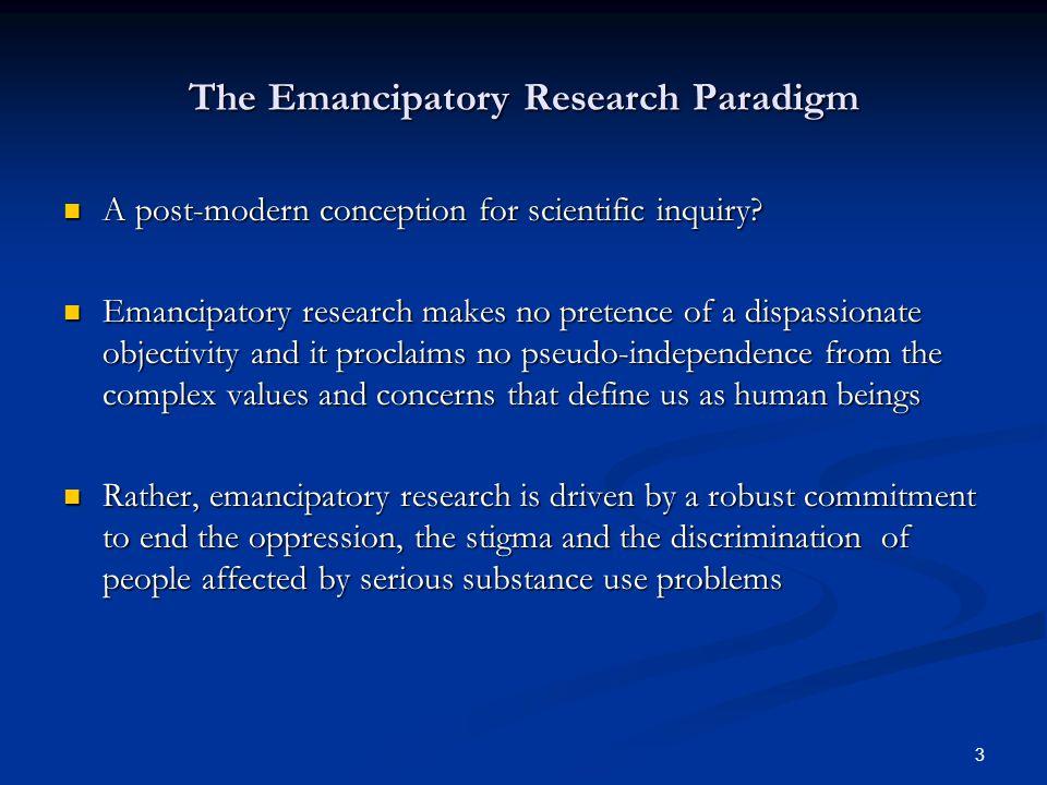 3 A post-modern conception for scientific inquiry.