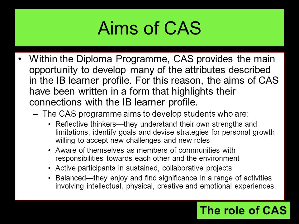 Essential Question #2: What is experiential learning and what role does it play as part of the student experience in IB/CAS?