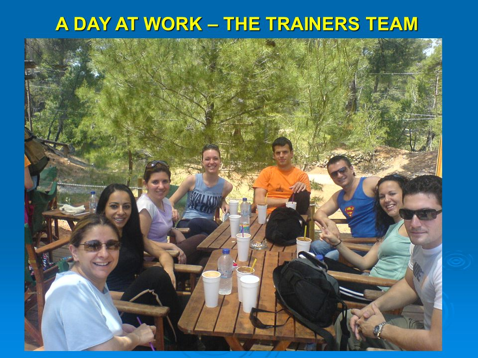 A DAY AT WORK – THE TRAINERS TEAM