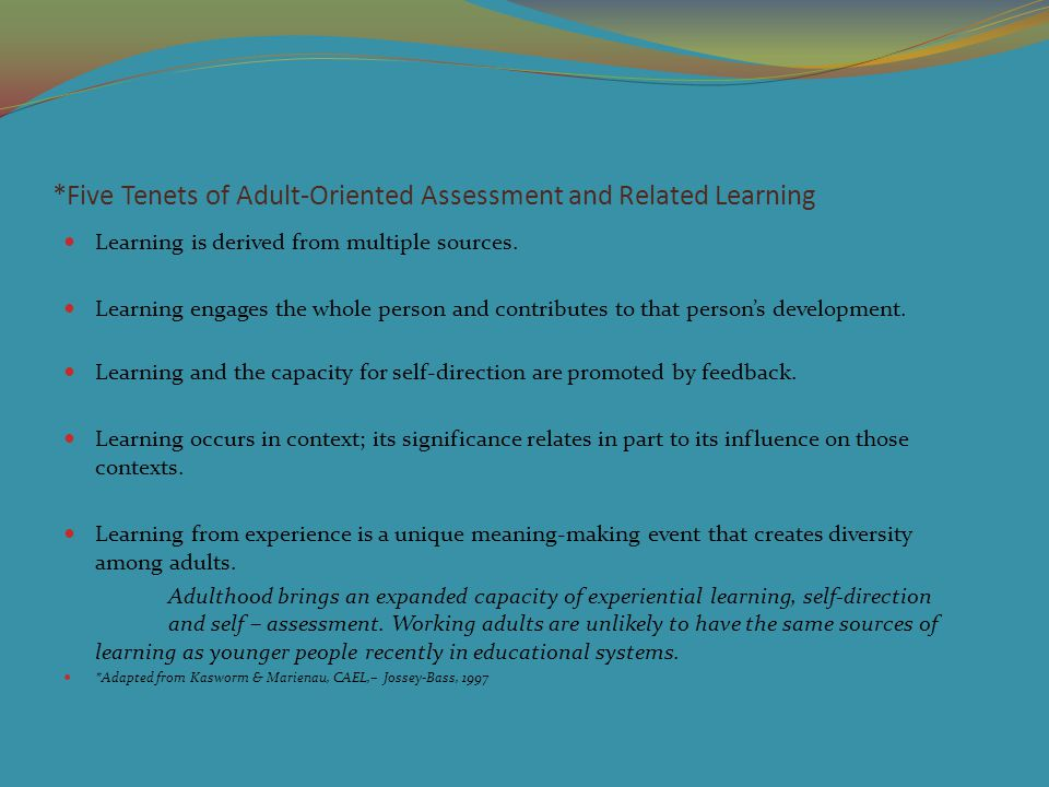 FAQ – Assessment of Prior Learning and Portfolio Assessment (CAEL) 10.