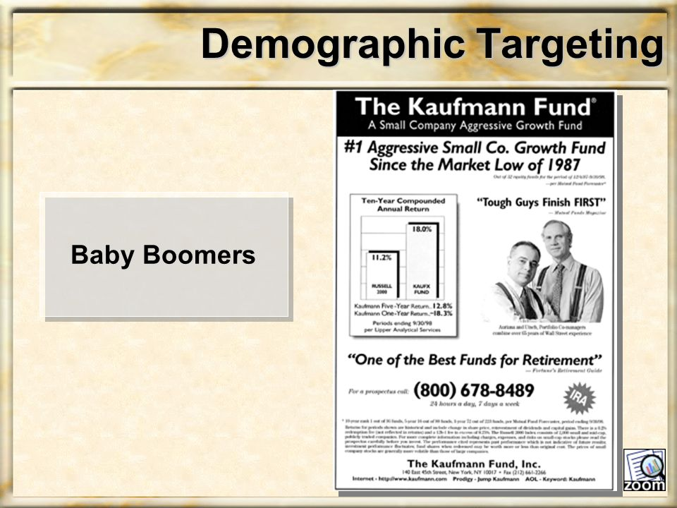 Demographic Targeting Baby Boomers