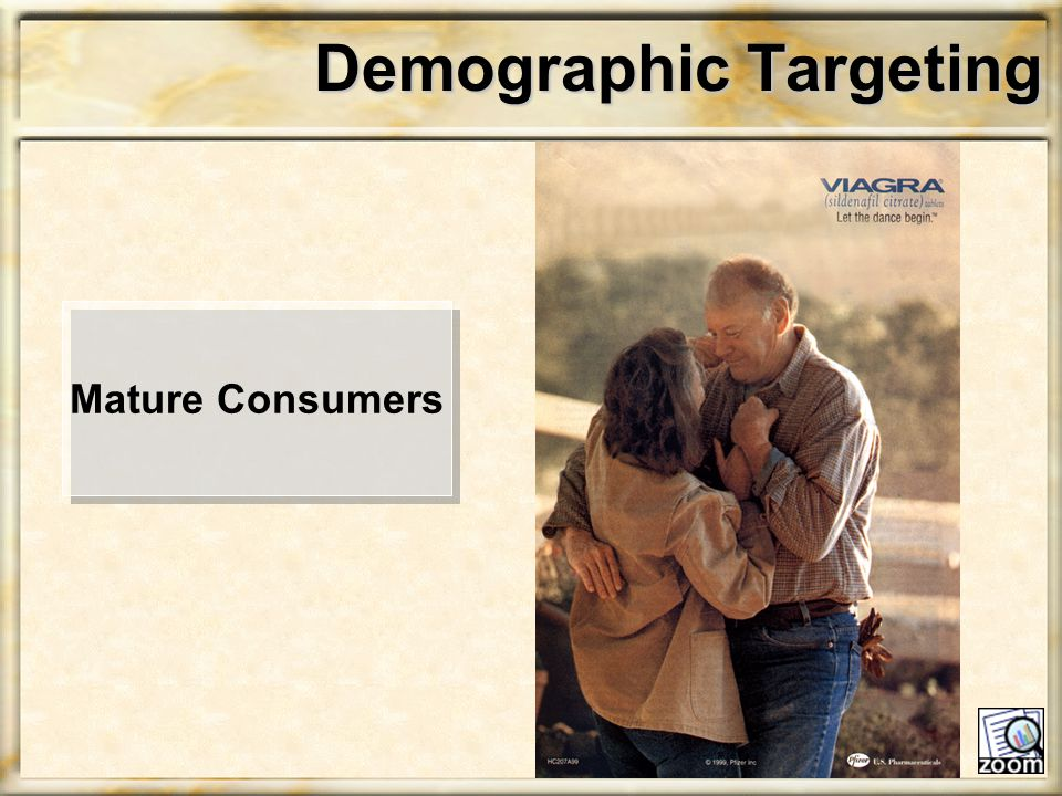 Demographic Targeting Mature Consumers