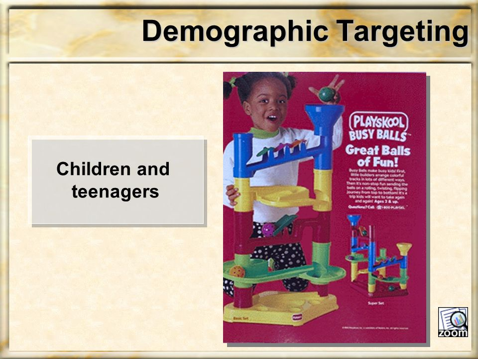 Demographic Targeting Children and teenagers