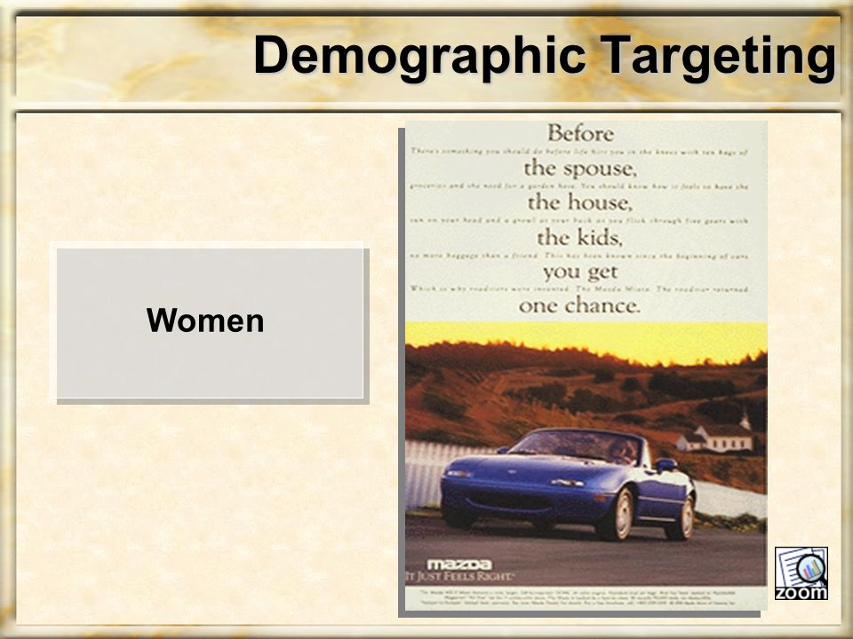 Demographic Targeting Women