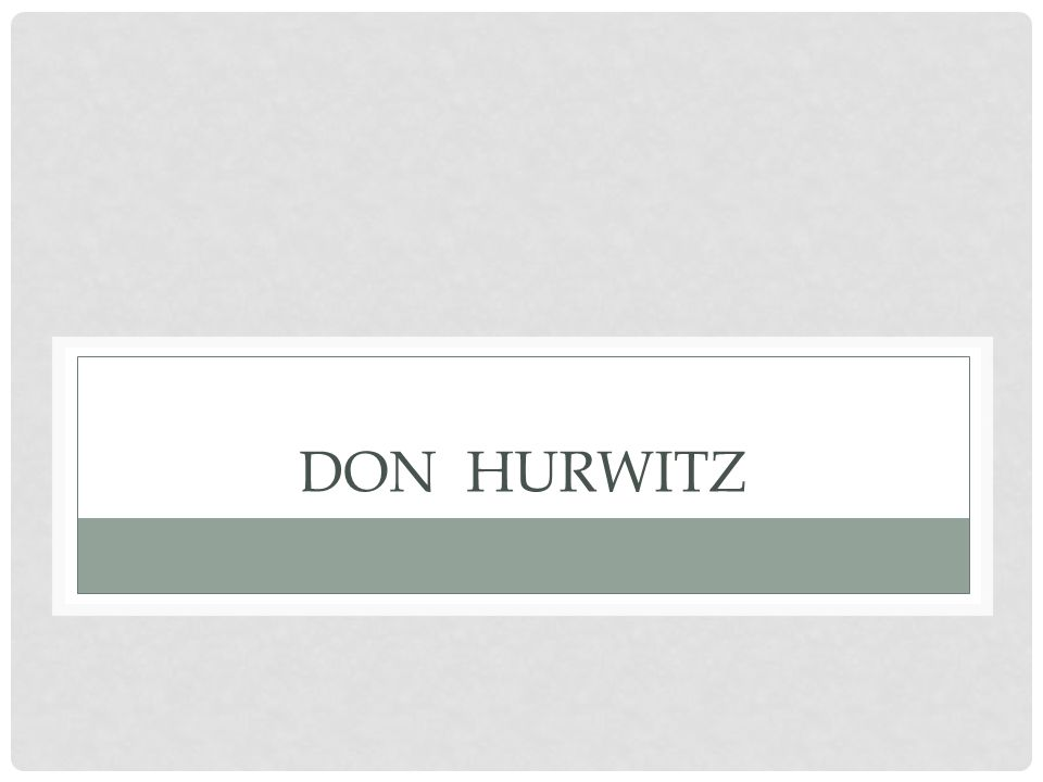 DON HURWITZ