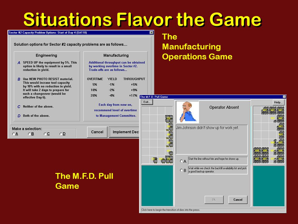 Commercial Game Screen: Deadlock Pseudo 3-D view with high impact animated art Iconic menu buttons Multiple screen sections