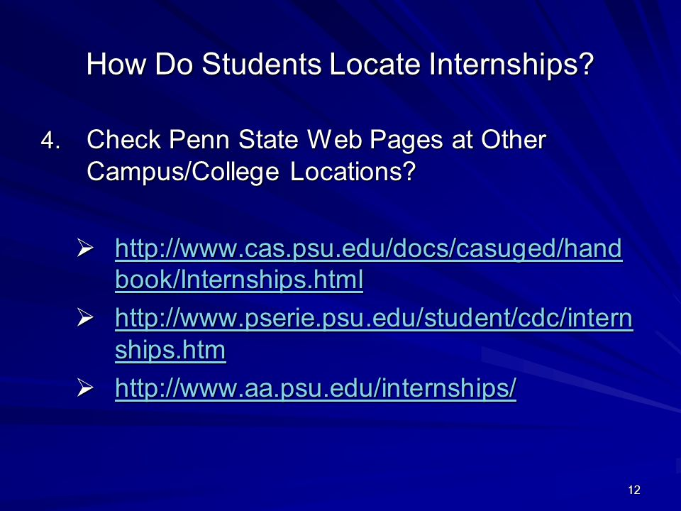 12 How Do Students Locate Internships.4.